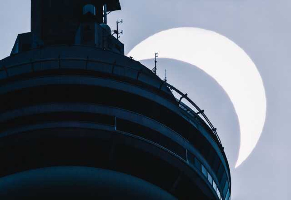 CN Tower and the eclipse
